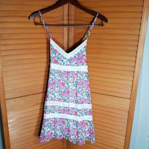 A&F Floral Sleeveless Mini Dress